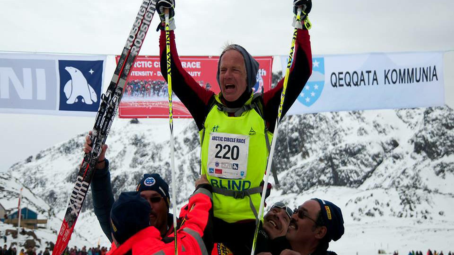 Arne Christensen i mål