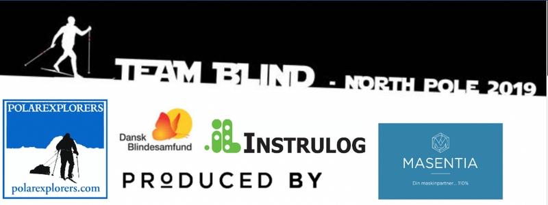 Billede med logoer fra de 5 sponsorere for Team Blind North Pole 2019
