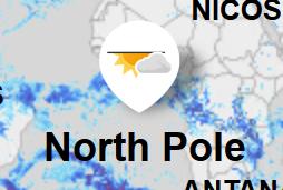 Kort der viser Nordpolen