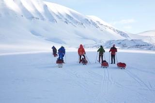 Team Blind: Eric, Claus, Arne og Henrik på ski.