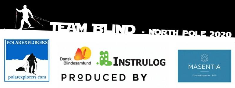 Billede med logoer fra de 5 sponsorere for Team Blind North Pole 2020
